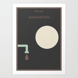 """Woody Allen """"Manhattan"""" Movie Poster Art Print"""