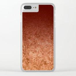 Copper Admiration - Copper Orange Warm Mosaic Clear iPhone Case