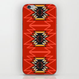 Ethnic lines in red iPhone Skin