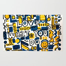 Fun LOVE and colorful art BED COMFORTER or Shower Curtain Rug