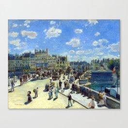 Auguste Renoir Pont Neuf, Paris Canvas Print