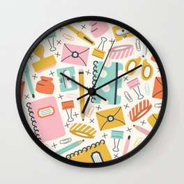 Stationery Love Wall Clock