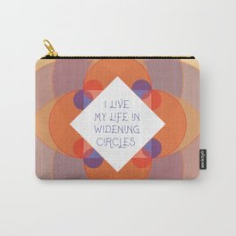 Widening Circles, Geometric Carry-All Pouch