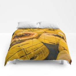 Yellow gathering Comforters