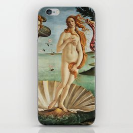The Birth of Venus by Sandro Botticelli, 1445 iPhone Skin
