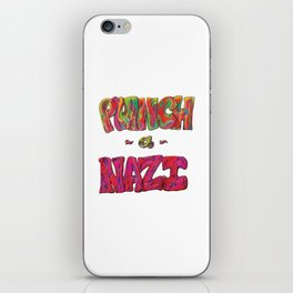 PunchANazi - This is Not Typography iPhone Skin