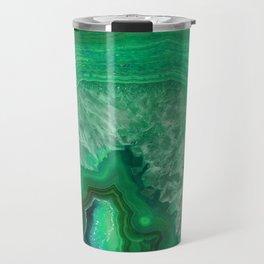 Green Emerald Agate Travel Mug