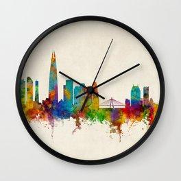Seoul Skyline South Korea Wall Clock