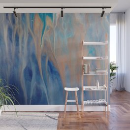 Sands of Time - Abstract Acrylic Art by Fluid Nature Wall Mural