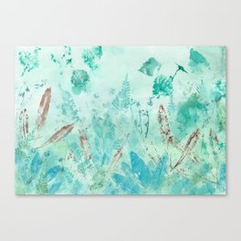 Silver birch and sage Canvas Print
