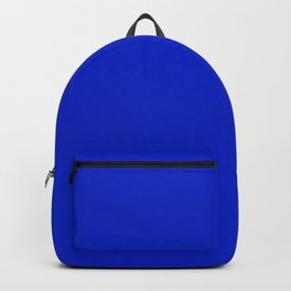 Solid Deep Cobalt Blue Color Backpack