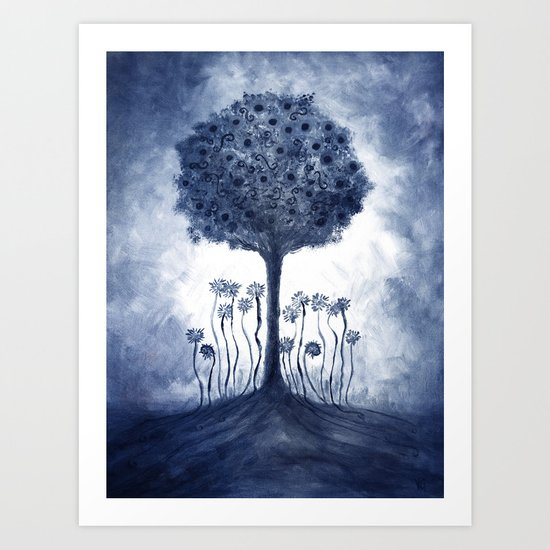 Energy from the tree Art Print