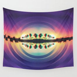 reflected palms Wall Tapestry