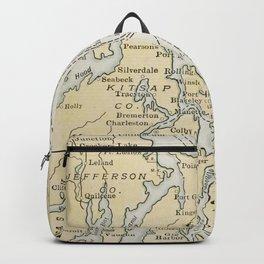 Vintage Map of The Puget Sound (1909) Backpack