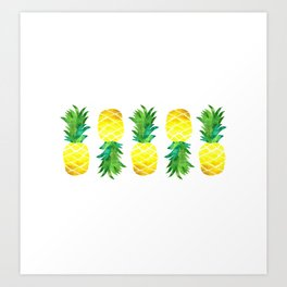 pineapples 2 Art Print
