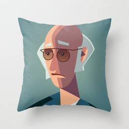 Larry David Seinfeld Curb Your Enthusiasm Throw Pillow