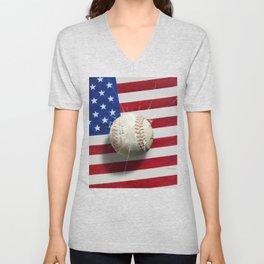 Baseball - New York, New York Unisex V-Neck