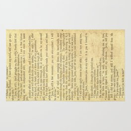 Jane Eyre, Mr. Rochester First Marriage Proposal by Charlotte Bronte Rug