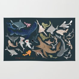 "FINconceivable Still ""Sharks"" Rug"