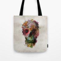 brain Tote Bags featuring SKULL 2 by Ali GULEC
