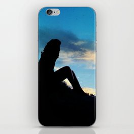 Evening Sunset Landscape - Mountain Girl iPhone Skin