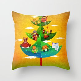 A Very Filipino Christmas Throw Pillow
