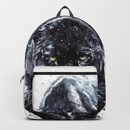 Panther watercolor painting predator animals puma Backpack