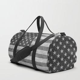 USA flag - Grayscale high quality image Duffle Bag