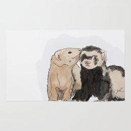 Ferret Kisses Rug