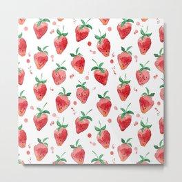 Strawberries Pow Metal Print
