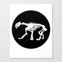 Saber toothed tiger skeleton Canvas Print