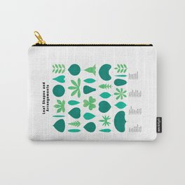 Leaf Shapes and Arrangements in Detail Carry-All Pouch