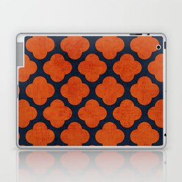 navy and orange clover Laptop & iPad Skin