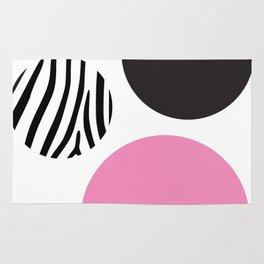 Pink zebra Rug