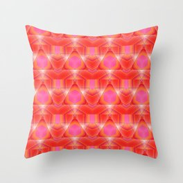 Candy Corn Inspired Pink & Orange Abstract Throw Pillow
