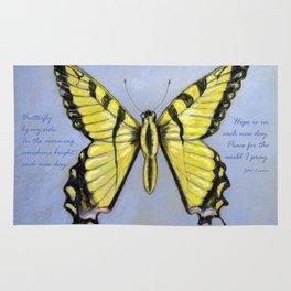 Yellow Dragontail Rug
