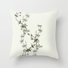 Pimpernel climbs Throw Pillow