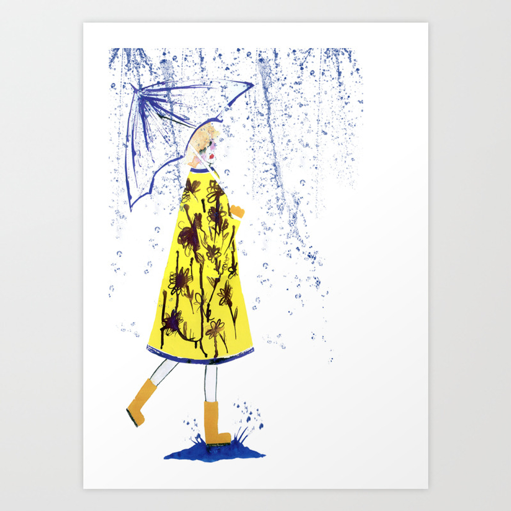 Singin' In The Rain Art Print by Cdouthwaite PRN99529