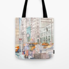 Reflection in the New York City windows II Tote Bag