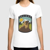 bigfoot T-shirts featuring Bigfoot Patch by uhohreilly