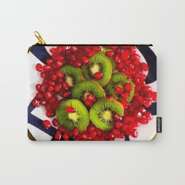 Kiwi and Pomegranate Seeds Carry-All Pouch