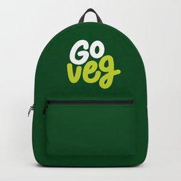 Go Veg sticker Backpack