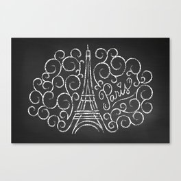 Paris Sketch Canvas Print