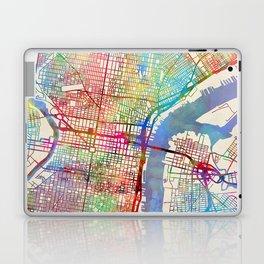 Philadelphia Pennsylvania City Street Map Laptop & iPad Skin