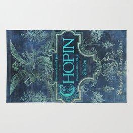 Frederick Chopin Blue Rug