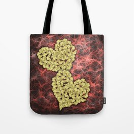 Romantic gold butterflies in an abstract webbed reality Tote Bag