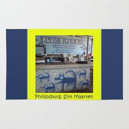 Blue Bitch Bar, St. Maartin Resort Travel Rug