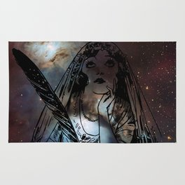 Galaxy Gypsy Writing a Letter to the Cosmos Rug