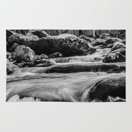 Water Flowing in the Smoky Mountains Rug