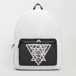 Marble and geometric design pattern Backpack